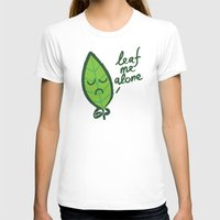 introvert T-shirts featuring The introvert leaf by Picomodi