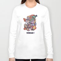 scream Long Sleeve T-shirts featuring Scream by Michalis