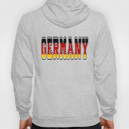 Germany Font #1 with German Flag Hoody