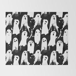 Ghost Splats Throw Blanket