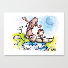 Calvin Solo and Hobbes-bacca Canvas Print
