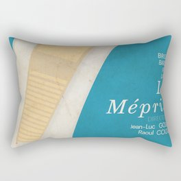 Contempt, Le Mépris, Jean-Luc Godard, Fritz Lang, Brigitte Bardot, french film, new wave, vague Rectangular Pillow