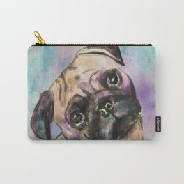 Pug dog Watercolor Portrait Carry-All Pouch