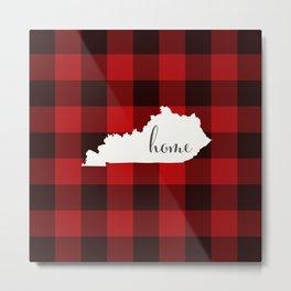 Kentucky is Home - Buffalo Check Plaid Metal Print