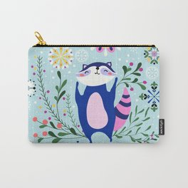 Happy Raccoon Card Carry-All Pouch