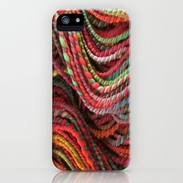 Burnt Peacock - Handpsun and Hand Dyed Yarn  iPhone Case