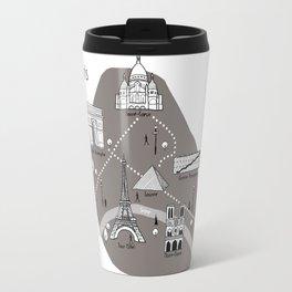 Mapping Paris - Grey Travel Mug