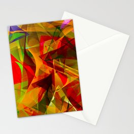Abstract Triangles 2B Stationery Cards