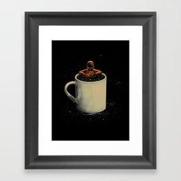 Space Coffee Framed Art Print