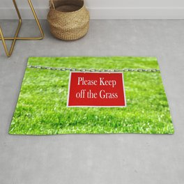PLEASE KEEP OFF THE GRASS Rug