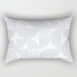 Light Grey Mid Century Bauhaus Semi Circle Pattern Rectangular Pillow