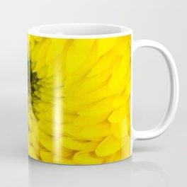 Fluffy Yellow Chrysanthemum Close-up  Coffee Mug