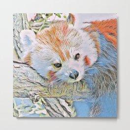 Watercolors - Red Panda 2 Metal Print