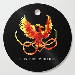 P is for Phoenix Cutting Board