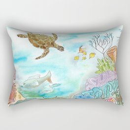 Turtle Reef Rectangular Pillow