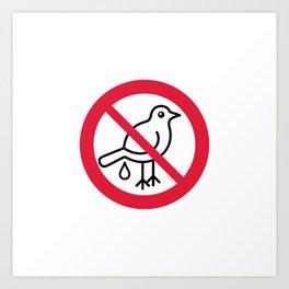 Birds Sign Logo 1 Art Print
