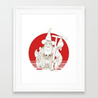 wizard Framed Art Prints featuring Wizard by Cody Barnhill