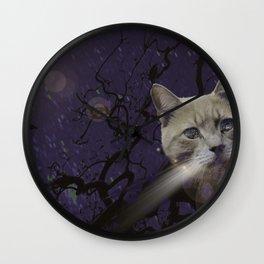 Skat Cat Wall Clock