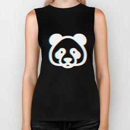 Psychedelic Bear Gift Psy Trance Music Trippy Retro 3D Effect Design for Animal Lovers Biker Tank