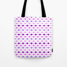 Hearts - Pink and Purple Tote Bag