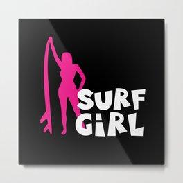 Surf Girl Metal Print