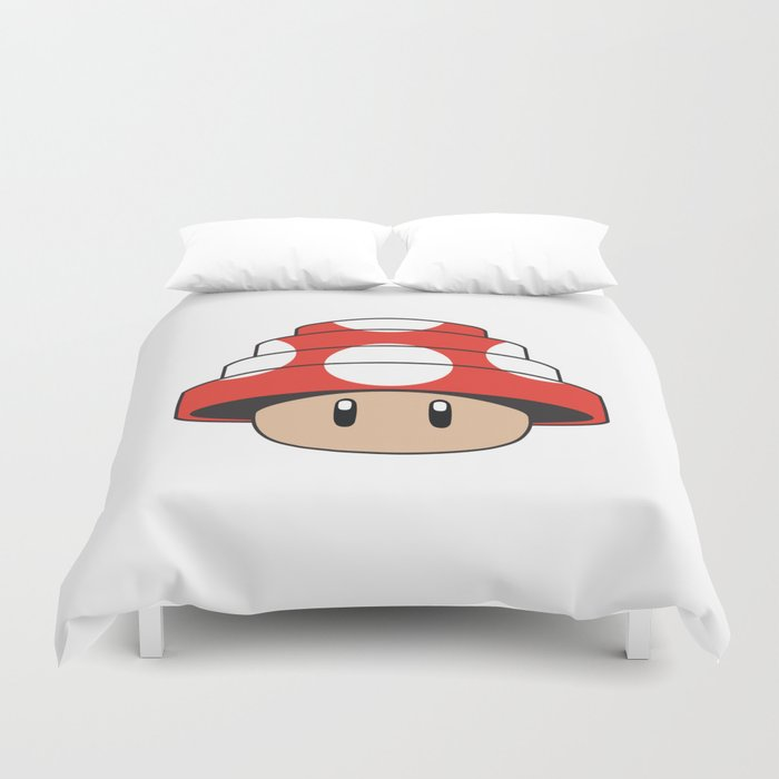 Are We Not Mushroom Duvet Cover