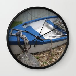 Dinghy by the Clamshack Wall Clock