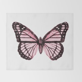 Monarch Butterfly Pink Dream Throw Blanket