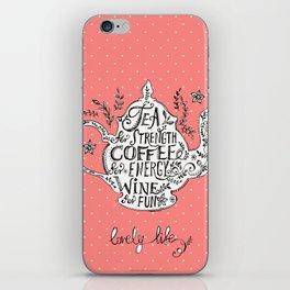 Tea, Coffee, Wine - 2 iPhone Skin