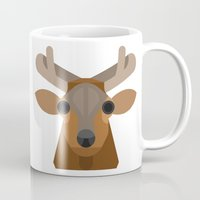 elk Mugs featuring Elk by A.D.