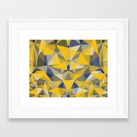 yellow pattern Framed Art Prints featuring Yellow by jbjart