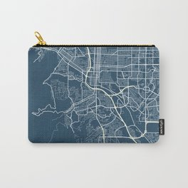 Colorado Springs Blueprint Street Map, Colorado Springs Colour Map Prints Carry-All Pouch