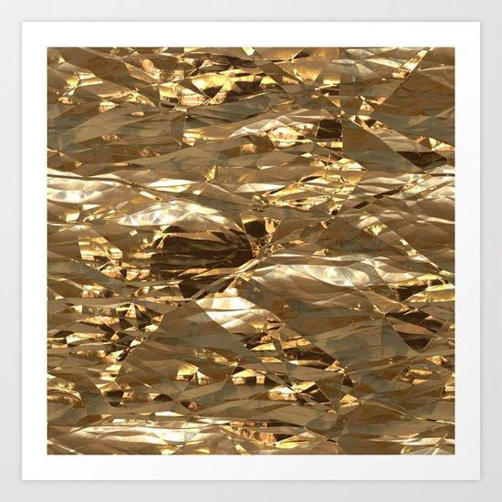 Gold Metal Art Print