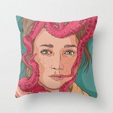 Tentacle illustration Throw Pillow