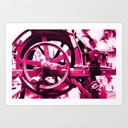 Magenta Pink Machine Art Print