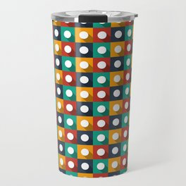 Flat design modern vector illustration background pattern with long shadow effect Travel Mug