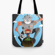 Last flower on earth Tote Bag