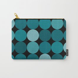 Polka Dots in Shades of BLue Carry-All Pouch