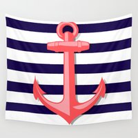 anchor Wall Tapestries featuring Anchor by Britt Mansouri