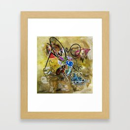 Mexicans vs Jews (oil on canvas) Framed Art Print