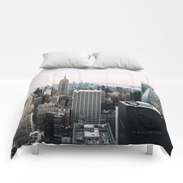 New York skyline from Top of the Rock Comforters