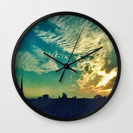 Charleston Skies Wall Clock