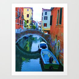 Lonely Boats  Art Print