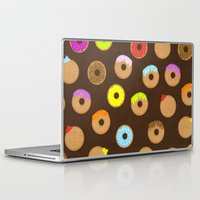 donuts Laptop & iPad Skins featuring Donuts by Reg Silva / Wedgienet.net