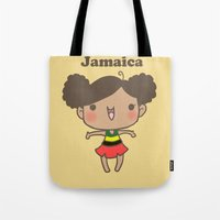 jamaica Tote Bags featuring Jamaica by Cat in the Box