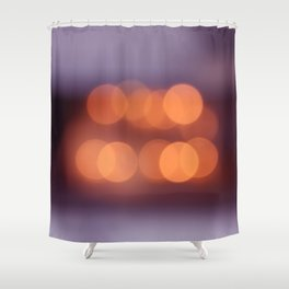 bokeh orange 4 Shower Curtain
