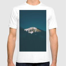 North Cascades Mens Fitted Tee MEDIUM White