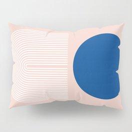 Abstraction_SUN_BLUE_LINE_POP_ART_Minimalism_020A Pillow Sham