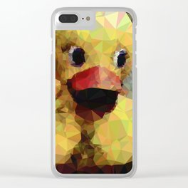 Geometric Yellow Rubber Duck Clear iPhone Case