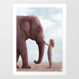 One Amazing Elephant Art Print